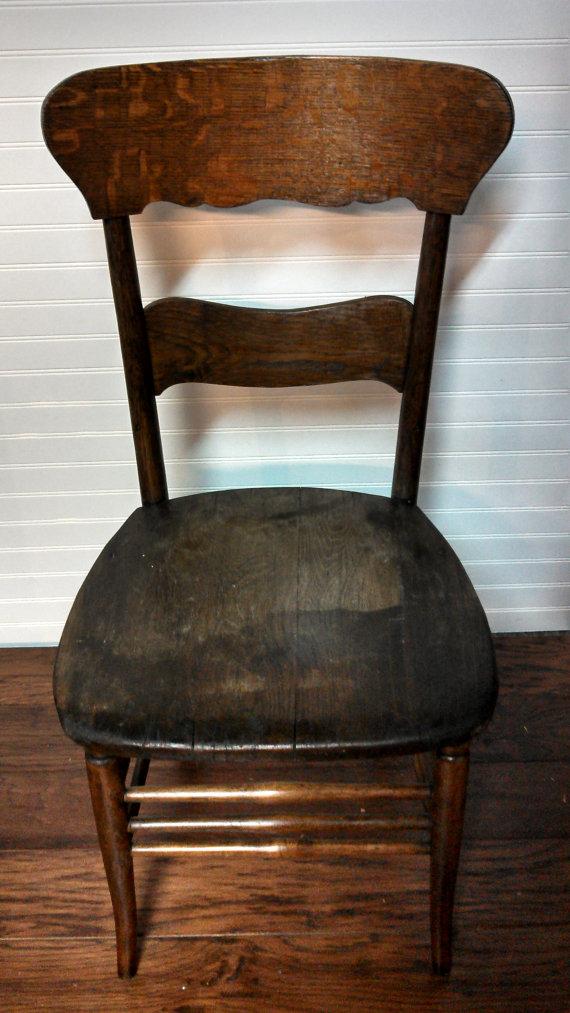 Unique Antique Vintage complete wood 2 slate ladder back chair.  il_570xN.392978879_jzad - SOLD! Unique Antique Vintage Complete Wood 2 Slate Ladder Back