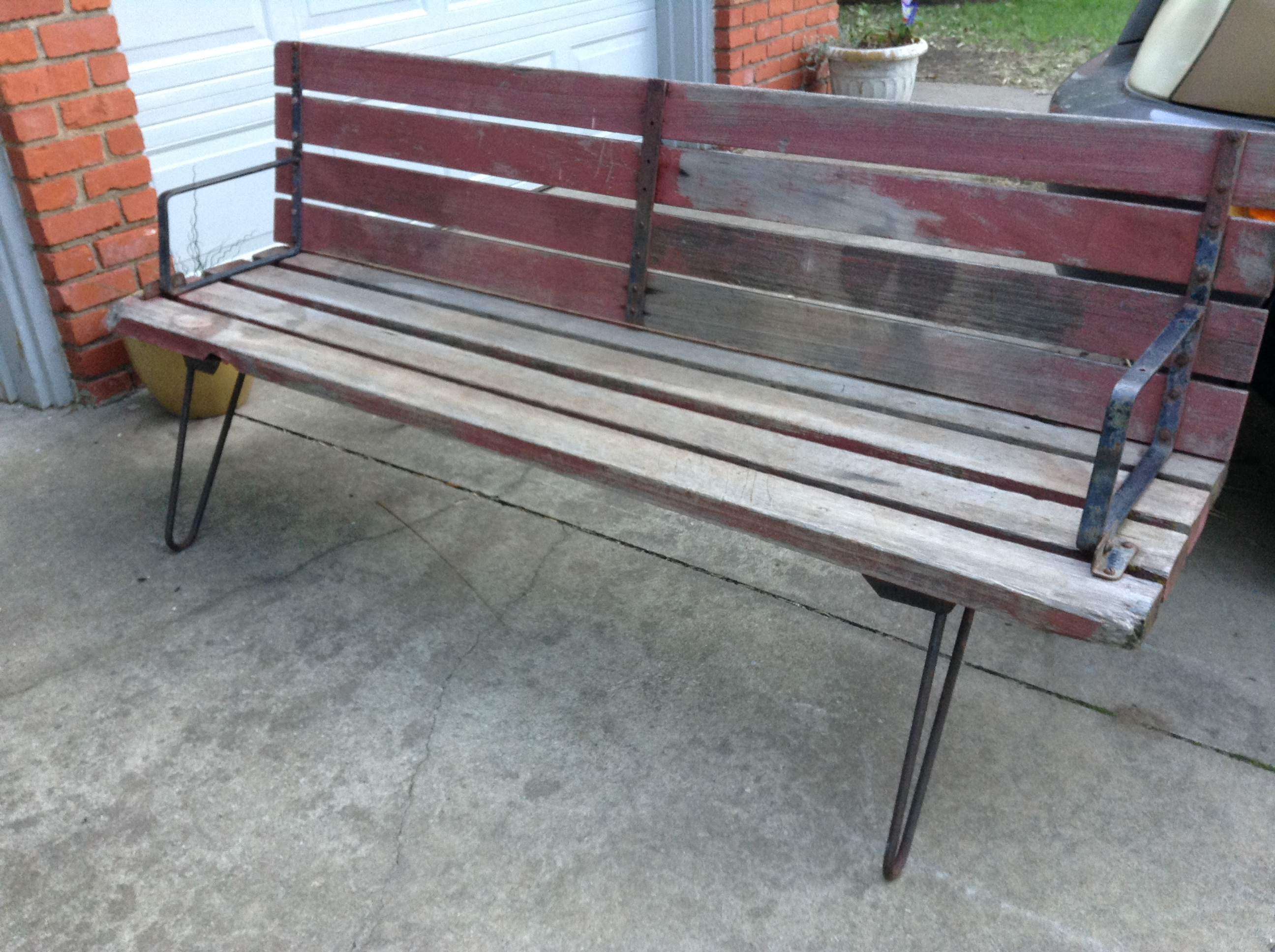 Vintage unique one of a kind transformable convertible bench to table sold retroexit Convertible bench
