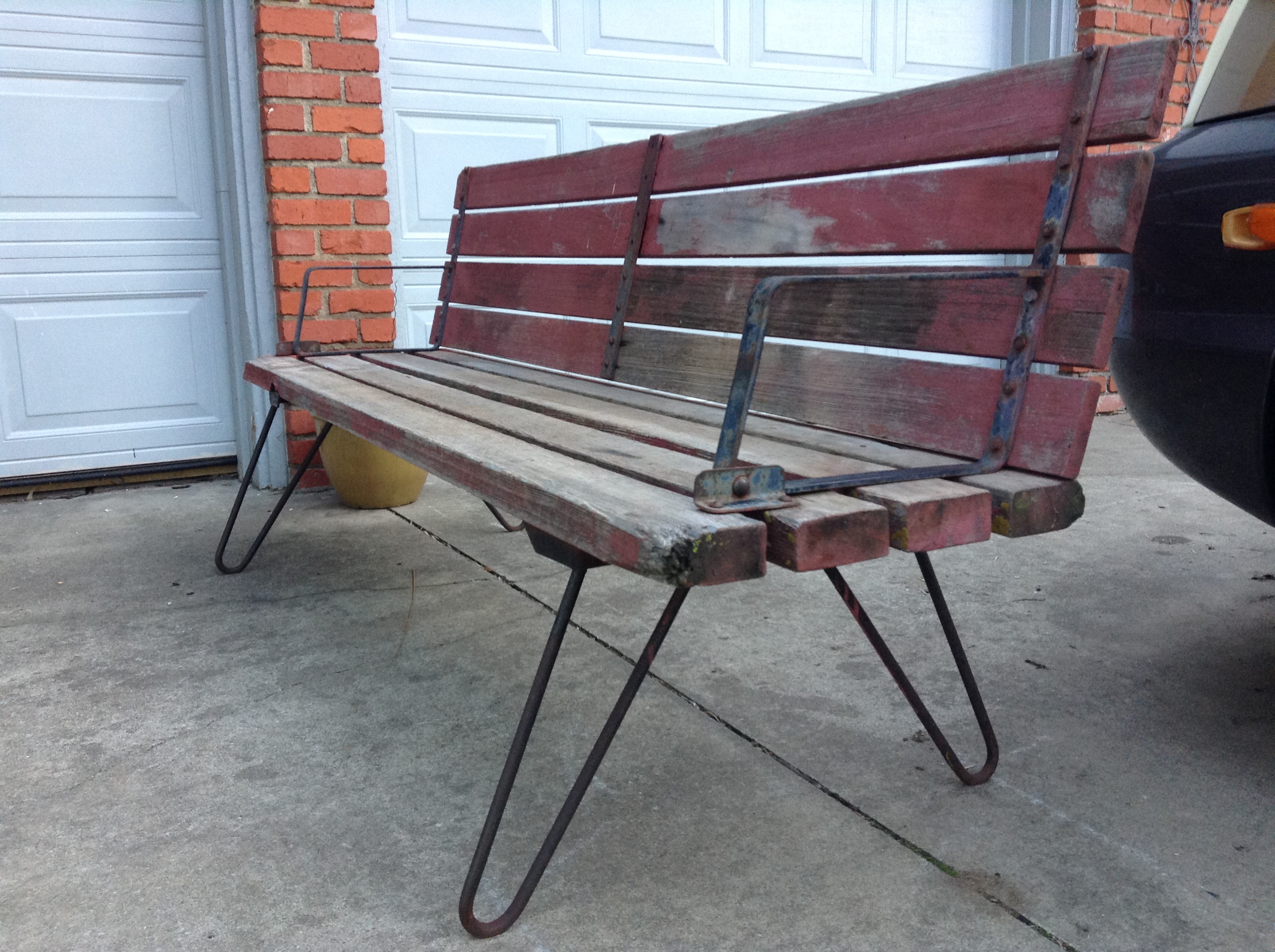 Vintage Unique one of a kind transformable bench to table